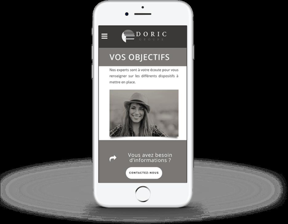 Offensive digital - mobile site web doric