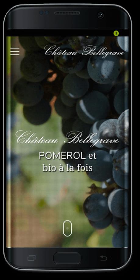 mock up mobile chateau bellegrave pomerol