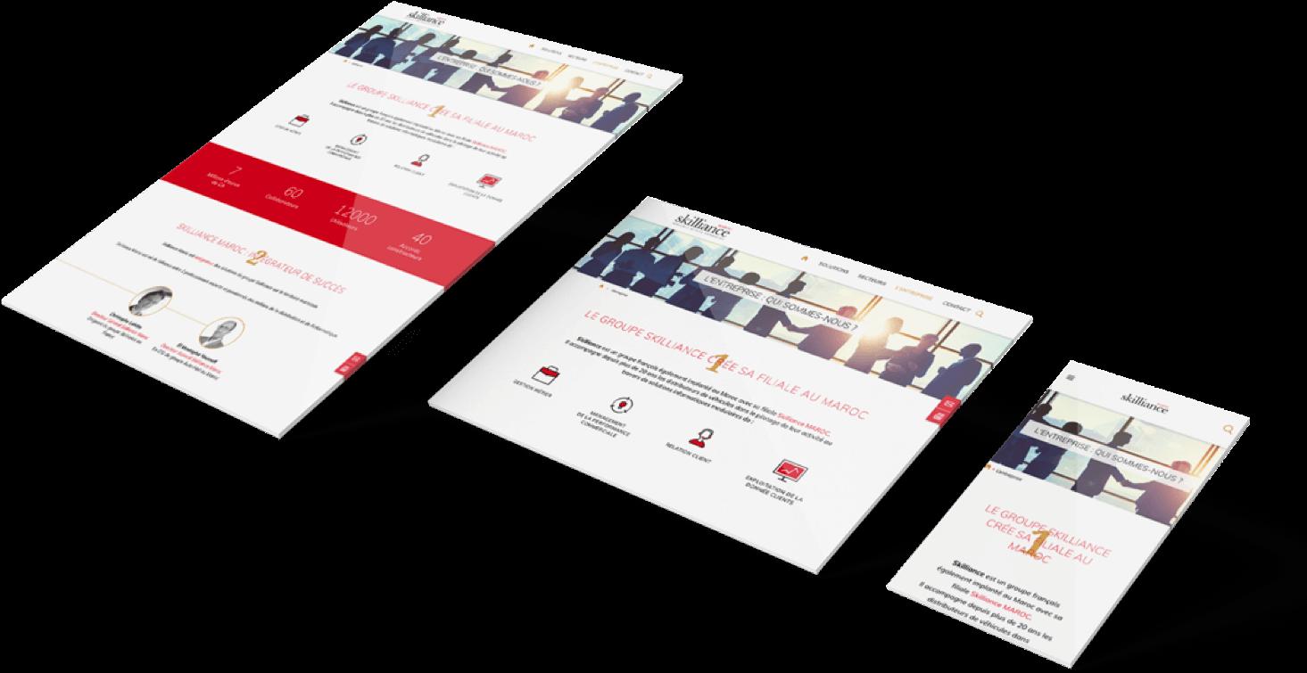 responsive design site internet skilliance