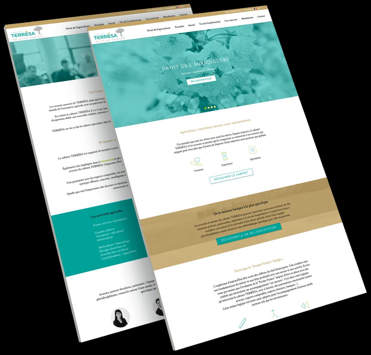 site web responsive terresa avocats