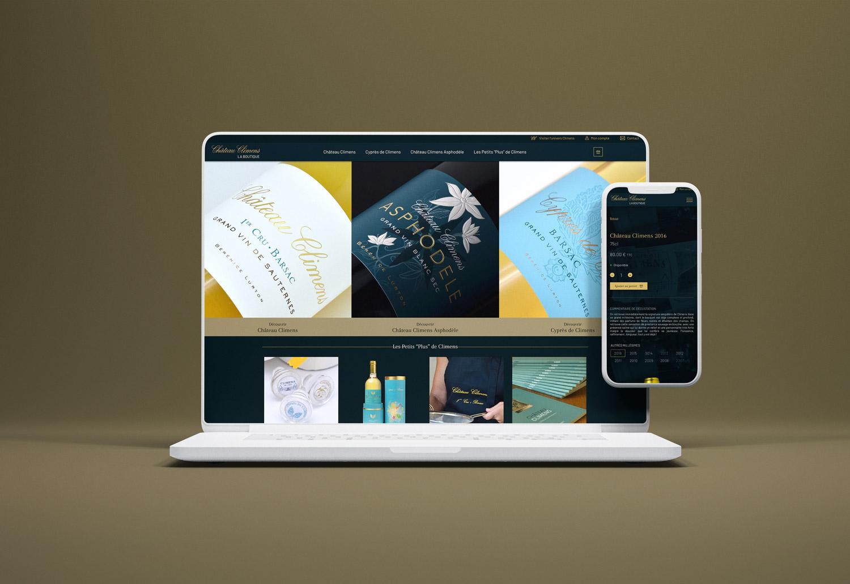 Chateau-climens-site-ecommerce-responsive-ordinateur-tablette-smartphone-mobile-bordeaux
