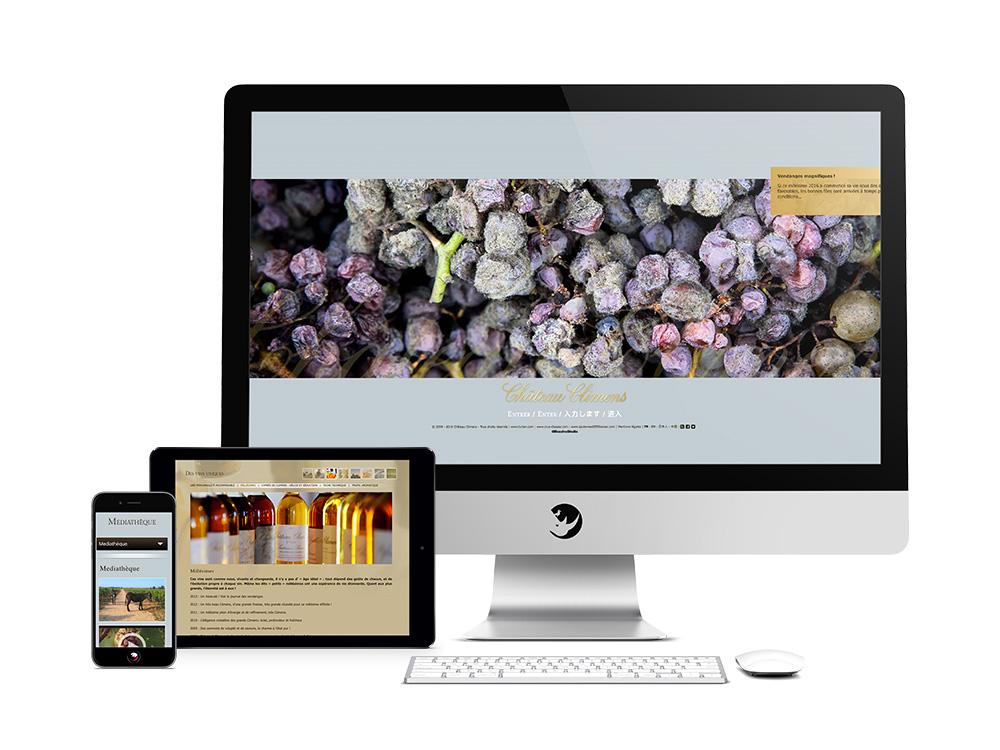 Chateau-climens-site-internet-responsive-ordinateur-tablette-smartphone-mobile-bordeaux