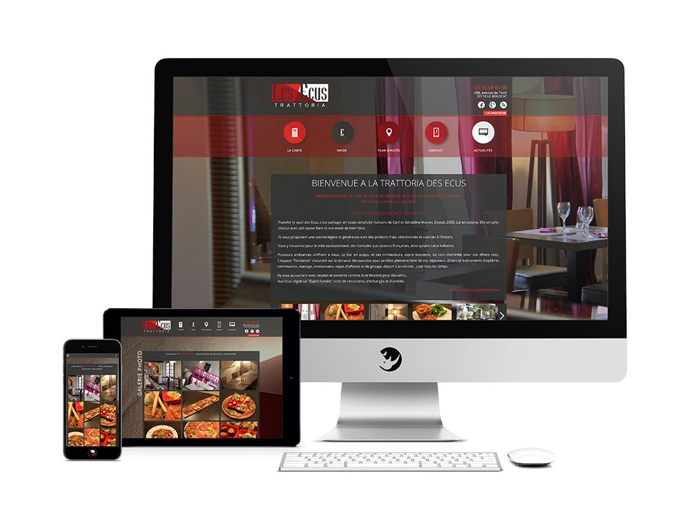 Les-Ecus-Restaurant-site-internet-responsive-ordinateur-tablette-smartphone-mobile-bordeaux