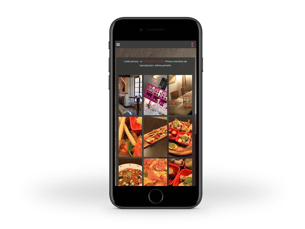 Les-Ecus-Restaurant-site-internet-responsive-smartphone-mobile-bordeaux