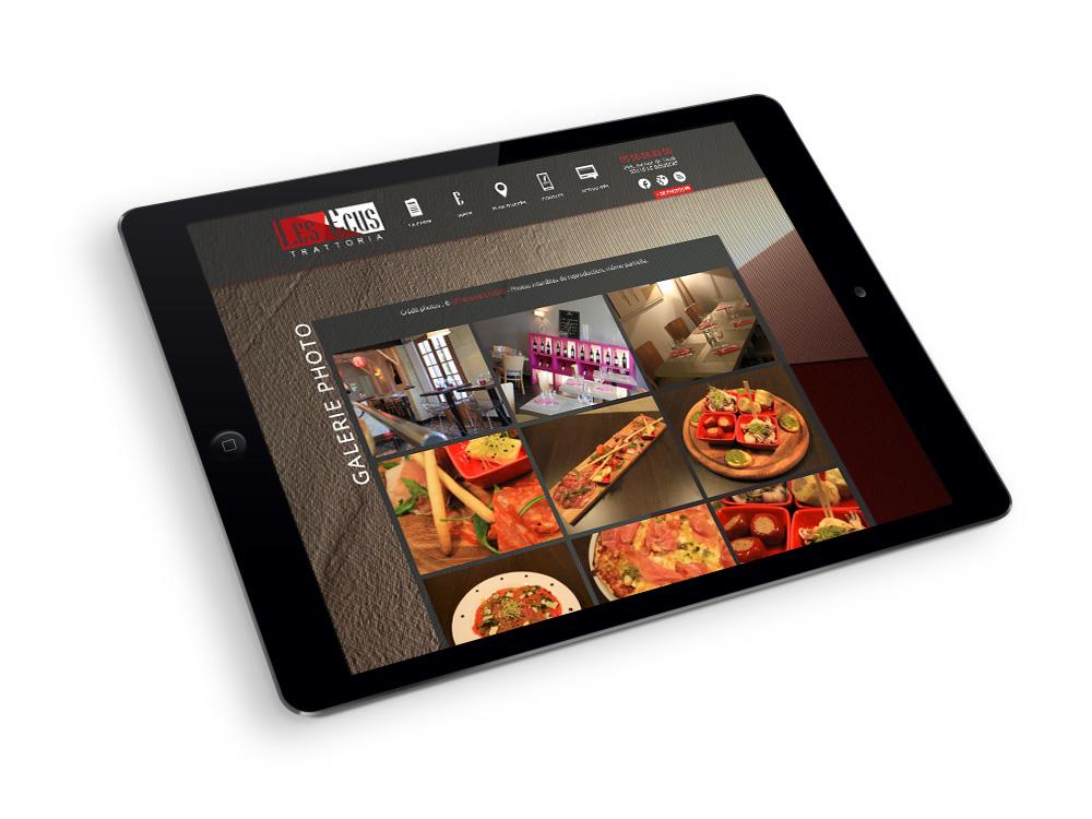 Les-Ecus-Restaurant-site-internet-responsive-tablette-mobile-bordeaux